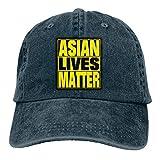 Asian Lives Matter Stop Asiatischer HASS Papa Sombrero Denim Baseball Cap Polo...