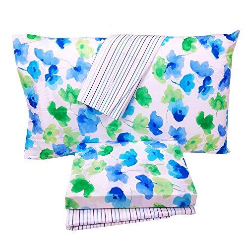 Bassetti sábana Riviera azul individual (Encimera Sábana 160x 280+ sábana bajera 90x 200+ 2fundas 50* 80)