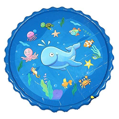 Inflable de pompón Agua Verano los niños juegan Juegos de césped Agua Mat Pad de riego Juego Juguetes al Aire Libre Piscina de hidromasaje,170 * 170CM