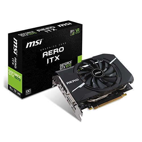 MSI GeForce GTX 1070 Aero ITX OC 8GB Nvidia GDDR5 2x HDMI, 2x DP, 1x DL-DVI-D, 2 Slot Afterburner OC, VR Ready, 4K-optimiert, Grafikkarte