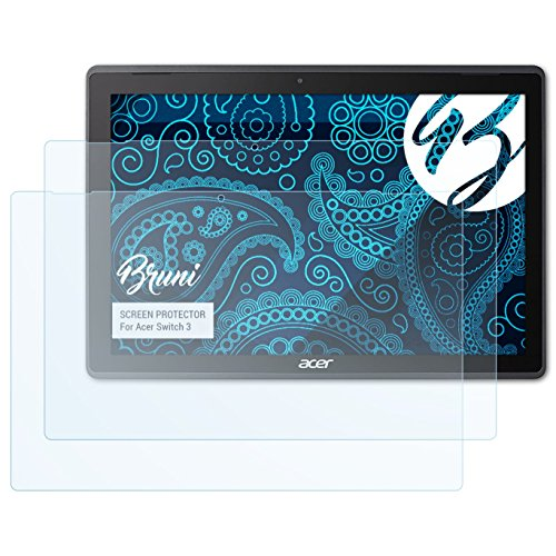 Bruni Película Protectora para Acer Switch 3 Protector Película, Claro Lámina Protectora (2X)
