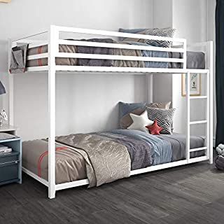 DHP Miles Metal Bunk Bed, White, Twin over Twin (B07VKQFMRS)   Amazon price tracker / tracking, Amazon price history charts, Amazon price watches, Amazon price drop alerts