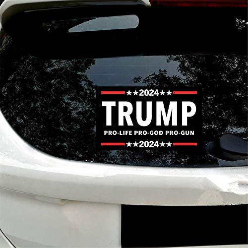 vylymuses Trump 2024 Pro Life Pro God Pro Gun Bumper Sticker Decal,Trump 2024 Decal for Laptop Car Bumper Window Decorations,9.84'×5.9'