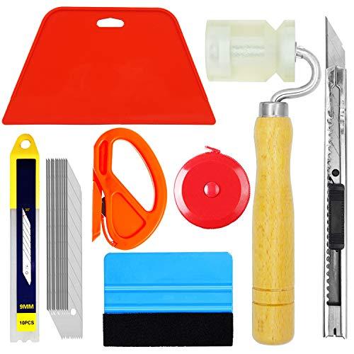 Tapetenwerkzeuge Tapeten-Hängekit mit Werkzeugbeutel, Schneidwerkzeug, Rakel, Farbschaber, Pinsel, Maßband