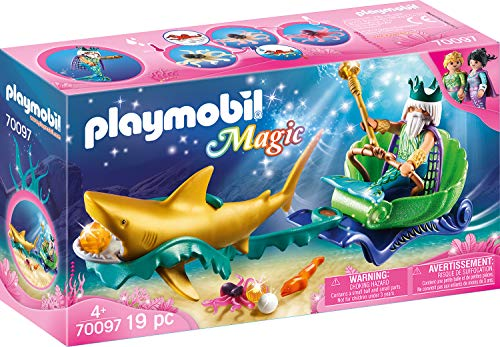 Playmobil 70097 Magic Sea King with Shark Carriage Multi-Coloured
