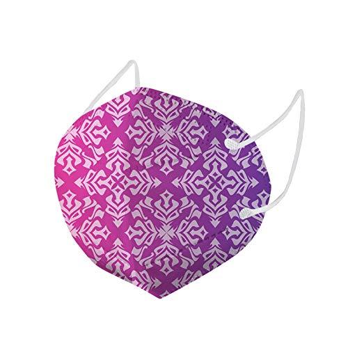 Erwachsene_Maske 5 Lagige Mund und Nasenschutz jkhhi 10/20/30/40/50/100 Stücke Mund-Nasen Bedeckung Halstuch Schals Bandanas Mund-Nasen-Schutz Men Bandana (50 Stück Lila)