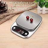 PRWJH Digitale elektronische Küchenwaage, 3 kg / 0,1 g Gewichtsausgleicher Startseite LCD Digitale...