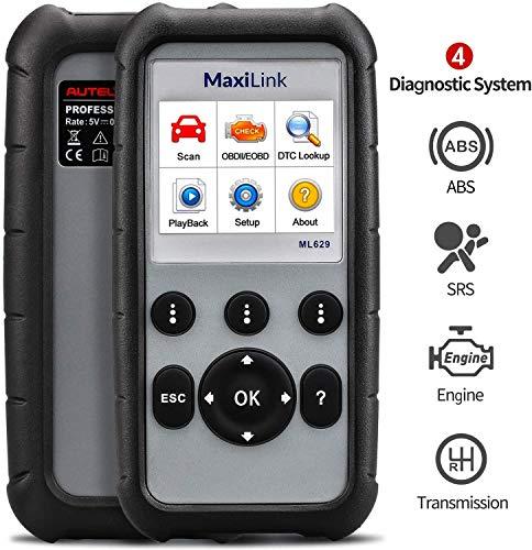 Autel MaxiLink ML629 KFZ-Diagnosegerät, Airbag/ABS/Motor/Getriebe testen mit alle OBD2-Auslesegerät Funktion, OBDII/EOBD/CAN Protokoll für VW BMW Mercedes etc. [14 Sprache verfügbar, Deutsche inkl.]