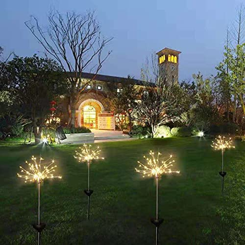 N\C Outdoor LED Solar Firework Light 90/120/150 Leds Waterproof String Fairy Lights, Used For Garden Family, Christmas, Party, Outdoor, Indoor Christmas Decoration Remote Control (1/2pcs)