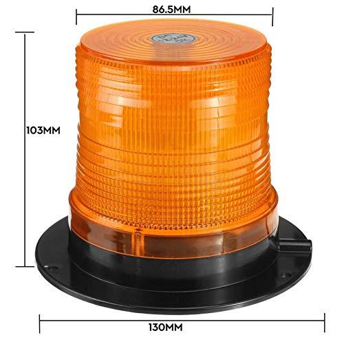 RJJ Wyfan 12V - 24V LED Camión de Coche magnético Truco Strobe Light Flashing Advertencia Luces de baliza de baliza de baliza de Seguridad Circular Señal de Seguridad Alarma Enrenador