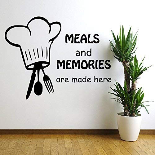 Decor Kafe Decal Stylemeals And Memories Wall Sticker Small Size- 15*12 Inch Color - Black