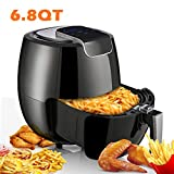 Air Fryer XL 6.8QT, 1800W Electric Hot Air Fryers Oven Oilless Cooker, LCD Digital Touchscreen, 8 Cooking Presets, Preheat & Nonstick Basket for Fast Healthier Fried FoodUS Store