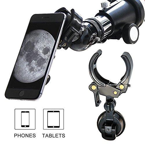 LILBEES Handy-und Tablet-Adapter-Halterung, Universal-und Protectable-Kompatibel mit Sternenteleskop Spektiv Fernglas Monokulare und Mikroskop (3,3 OZ)