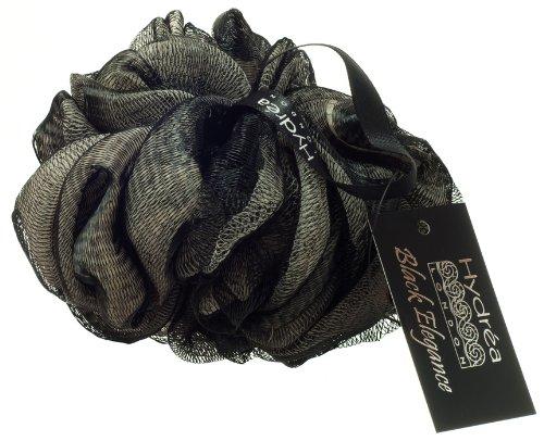 Large Fleur de Douche Exfoliante Noire et Blanche...