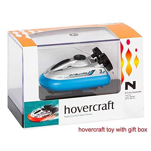 Mini RC Hovercraft modelo de control remoto 90 X 50 X 40 mm Jet barco R / C Turbo Motor Classic eléctrico lancha rápida Boy juguete Navidad regalo de cumpleaños para niños y adultos ( Color : Blue )