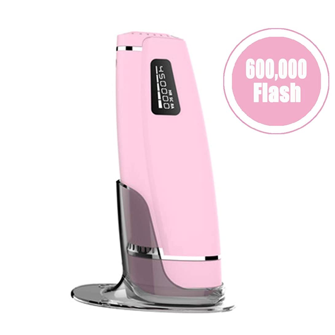 ポスター短くするバッグアップグレードIPLレーザー脱毛システムデバイス、60万回のフラッシュ無痛常設パルス光脱毛器にとってボディフェイス脇の下ビキニライン,Pink