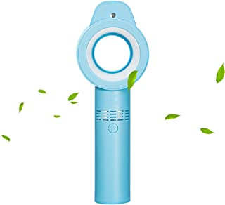 Youyababay Ventilador Sin Cuchilla Recargable USB Portátil Mini Radiador De Mano Personal con Nivel De 3 Velocidades, Humidificación, Ventilador De Escritorio/Oficina/Dormitorio/Exterior,Azul