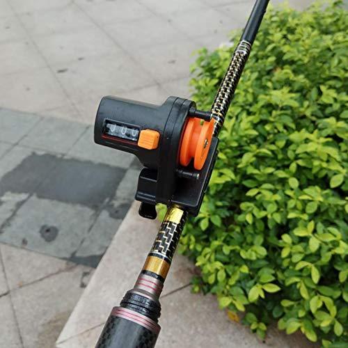 DAUERHAFT Contador de Profundidad de línea de Pesca con Carcasa de ABS de Nylon 0-999 Metros de Rango de conteo, para Pescar