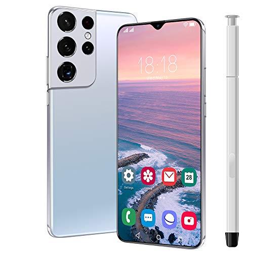 NYDCTHOM S21 Ultra Smartphone ohne vertrag günstiges Android Handy, 6.8 Zoll Full FHD+ Bildschirm, 6800mAh großer Akuu, Dual-SIM, Face ID und Android 10.0