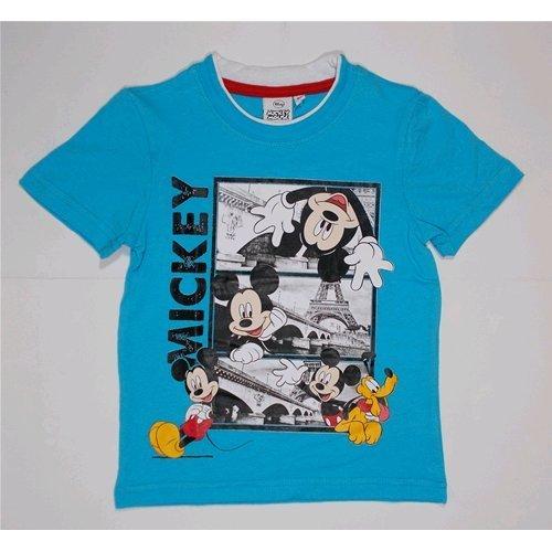T-shirt t-shirt d'été Mickey Disney enfant garçon 3/8 ans – oe1308/1 7-8 years bleu ciel
