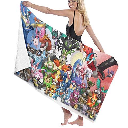 Toalla de playa Pokemon de microfibra grande rectangular toalla de baño de secado rápido portátil toalla de viaje ultra absorbente deportes viajes