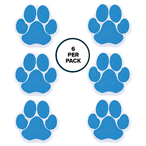 SlipX Solutions Adhesive Paw Print Bath Treads Add Non-Slip Traction to Tubs