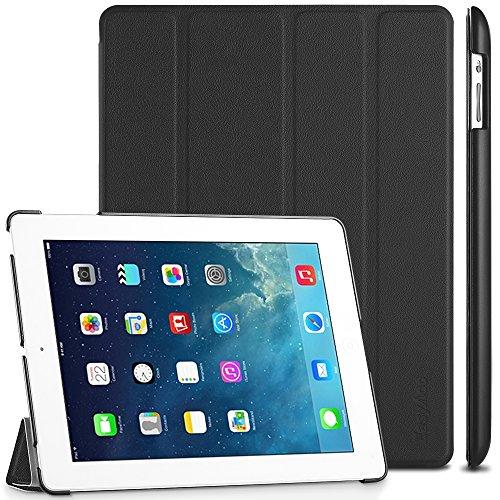 EasyAcc Hülle Kompatibel mit iPad 4 iPad 3 iPad 2, Ultra Dünn Schutzhülle mit Ständer Funktion eingebautem Magnet Einschlaf/Aufwach Kompatibel mit iPad 2/3/4 - Schwarz
