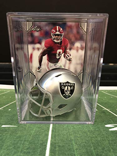 Las Vegas Raiders NFL Helmet Shadowbox w/Josh Jacobs card