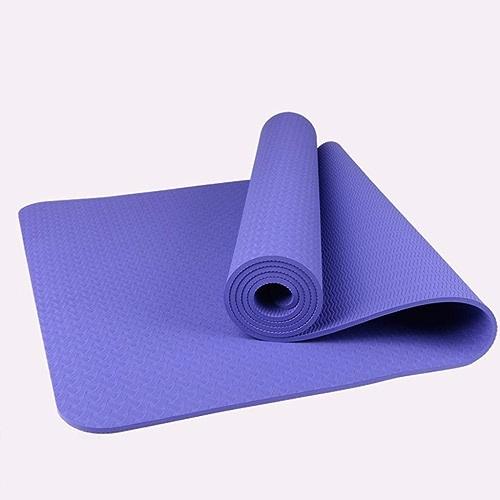 YUN-X Tapis de Yoga antidérapant en TPE Monochrome   183  61  0.6 (cm)   Sport et Fitness pour Hommes et Femmes