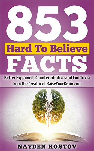 853 Hard To Believe Facts: Better Explained, Counterintuitive and Fun Trivia from the...