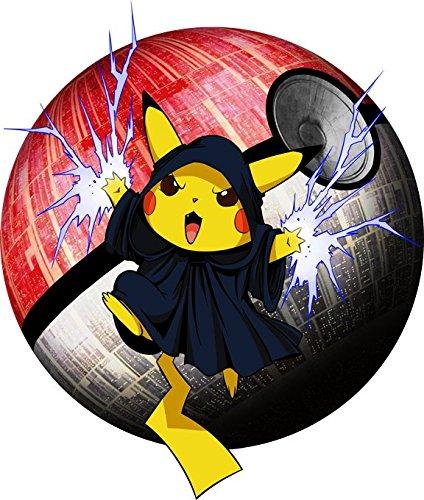 Okiwoki T-Shirt Noir Pokémon parodique Pikachu et Dark Sidious aka Palpatine : Palpa-chu : (Parodie Pokémon)