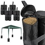 Anladia 4er Set Pavillonstandfüße Hochwertige Sandsäcke Schwarz Langlebig Gewichte Standsicherung zur Stabilisation für Pavillons Gartenzelte Festzelte