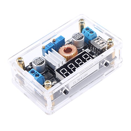 Droking LM2596 DC Buck Spannungsregler Constant Voltage & Current Einstellbarer Stromwandler 5-36V bis 1.25-32V Step-down-Modul LED-Antriebsmodul Batterieladegerät Voltmeter Amperemeter USB-Ausgang