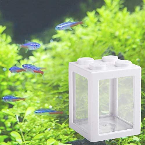 Desktop Mini Aquarium Kann Gestapelt Werden, Geeignet Für Büro Couchtisch Dekoration, Micro-View Zylinder Haustier Fütterungsbox Mit Kreativen Geschenk