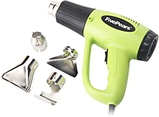 FivePears 220V 2000W Dual Temperature Heat Gun Kit with Four Metal Nozzle Attachments
