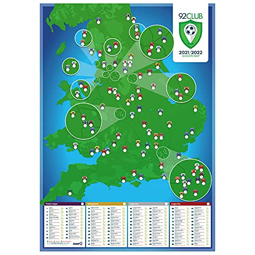 92 Club and National League A1 football stadium wall poster - 2021/2022...