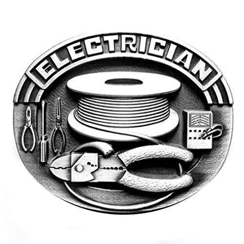 Buckle Electrician, Elektriker, Beruf, Handwerk, Gürtelschnalle