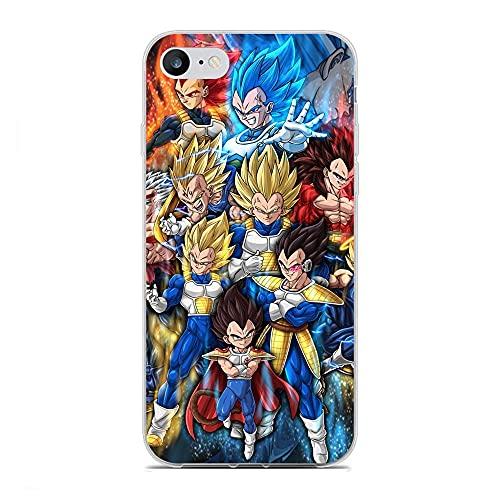 GJGSWY Case for Apple iPhone 6/6s, Vegeta-Goku Blue 0 Soft TPU Clear Silikon Coque Slim Liquid Anti-Slip