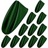 Aneco 12 Pieces Satin Napkins Soft Dinner Napkins Square Table Napkins 17 x 17 Inches for Restaurant Weddings Party Dinner Decoration (Forest Green)