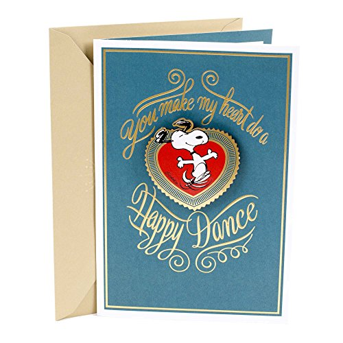 Hallmark Romantic Peanuts Father's Day Card for Husband (Snoopy Happy Dance)