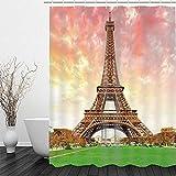 Shower Curtain Cortina de Ducha para baño Cancha de Baloncesto 180*180cm Decoración Impermeable Y Fácil De Limpiar. Impresión 3D HD. Gancho Libre.