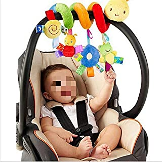 andy cool Kid Baby Crib Cot Pram Hanging Rattles Spiral Stroller Car Seat Toy with Ringing Bell Useful and Practical