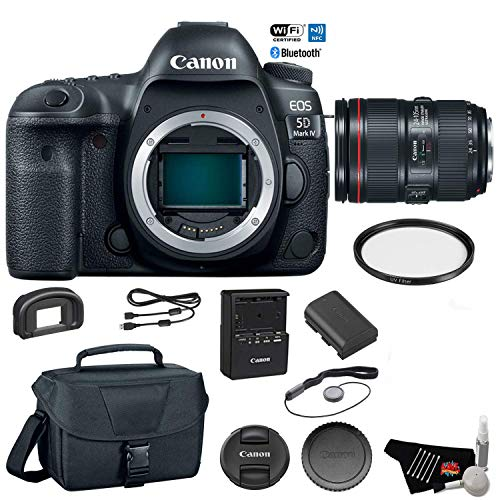 Check Out This Canon EOS 5D Mark IV Digital SLR Camera with 24-105mm f/4L II Lens - Bundle with UV F...