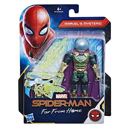 Hasbro Spider-Man - Far from Home Mysterio Spider-Man Action Figuras de 15 cm, Multicolor, E4124Es0