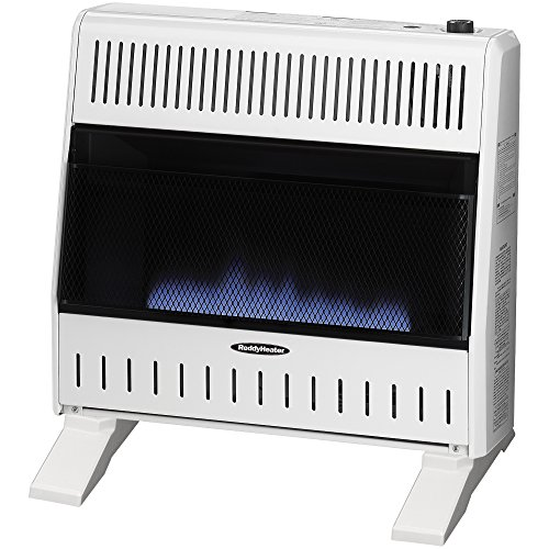 Sure Heat 30,000 BTU Blue Flame Dual Fuel Gas Space Heater with...