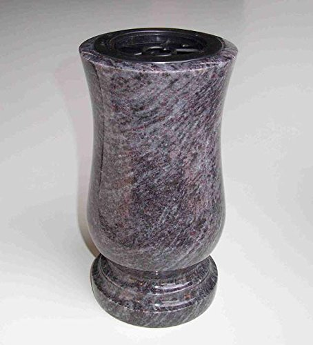 designrab Vase funéraire en granit bleu orion/bleu vizag - Taille XL