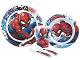 Lulabi 8003512708480 Confezione 5 Pezzi Bimbo Melamina Spiderman...