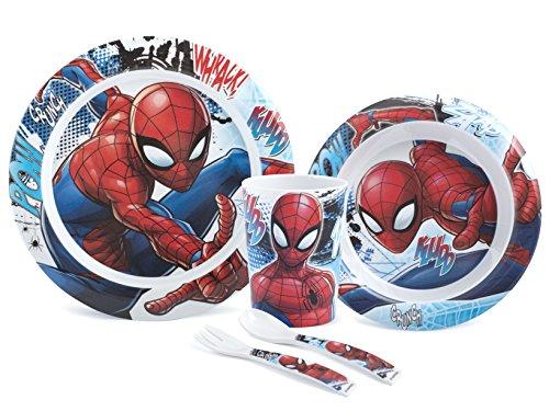 Lulabi 8003512708480 - Paquete de 5 piezas para niño de melamina Spiderman
