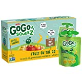 GoGo squeeZ Applesauce, Apple Banana, 3.2 Ounce (72 Pouches), Gluten Free, Vegan Friendly, Unsweetened Applesauce, Recloseable, BPA Free Pouches