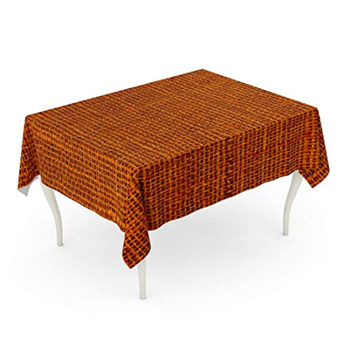 Tarolo Rectangle Tablecloth 60 x 102 Inch Close Blank Rust Colored Canvas Macro Detail Full Copy Empty Negative Pattern Patterned Table Cloth